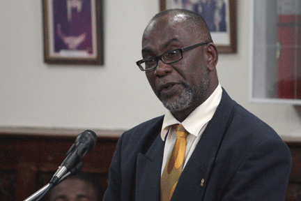 Opposition Lawmaker And Businessman, St. Clair Leacock.