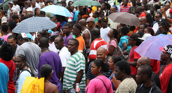Hundreds Of Persons Turned Out At Heritage Square For The Climax Of The Event. (Iwn Photo)