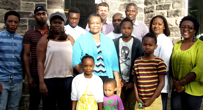 Back Row Centre (L-R): Dr Christopher Stange, Hon. Consul For St. Vincent And The Grenadines To Northern Ireland And Prince Marcus. Front (R) Yolande Robertson Greene, Vbfwa President With Some Of The Vincentian Diaspora In Northern Ireland.