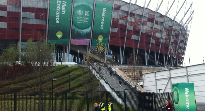The Climate Talks Are Taking Place At The National Stadium In Warsaw, Poland.