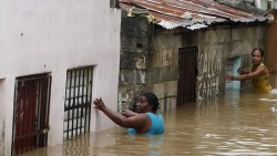 Hurricane Sandy Pap Haiti Women In Flooded Street 102512