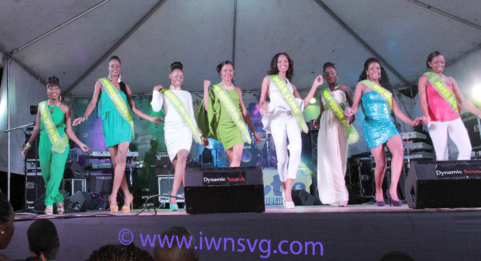 Contestants In The Miss Svg Pageant Gave A Taste Of What To Expect During The Show In May 31. (Iwn Photo)