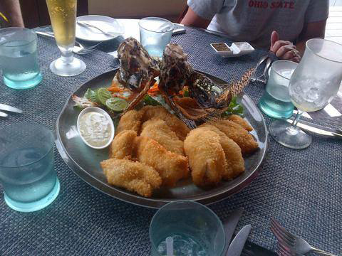 Lionfish Is Served As Part Of A Meal.