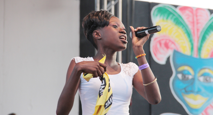 Junior Soca Monarch &Quot;Neisha &Quot;Mighty Spice&Quot; Richards. (Iwn Photo)