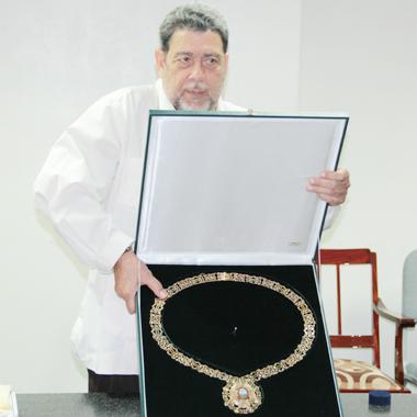 Gonsalves Received Ecuador'S Highest Civilian Award During The Visit. (Iwn Photo)