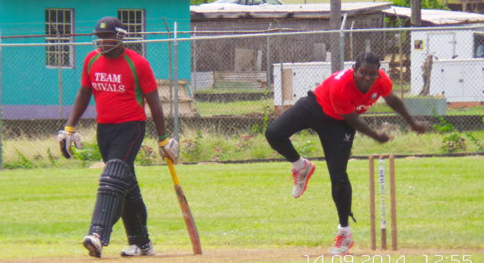 Desron Maloney 3/27 Was The Most Successful Bowler For Guardian General Saints. (Iwn Photo)