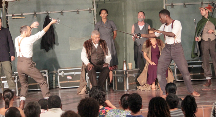 A Scene From &Quot;Hamlet&Quot;, As Staged At The Community College. (Iwn Photo)