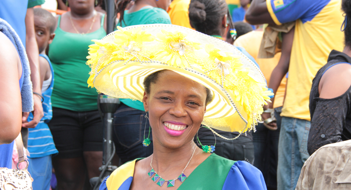 National Colours Were The Order Of The Day At The Independence Parade.