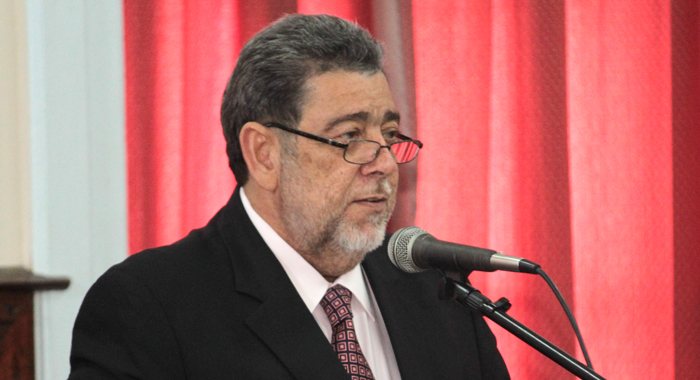 Prime Minister Gonsalves Tabled The Amendment In Parliament. (Iwn File Photo)