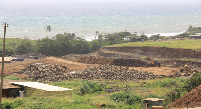 Concrete Works On Channeling Yambou River Under The Runway Will Begin This Week, The Iadc Says. (Iwn Photo)