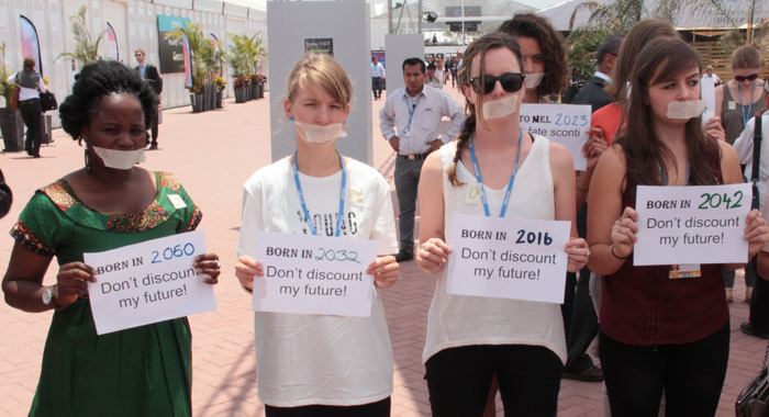 Activists At Cop20 In Peru Urge Actions To Curb Anticipated Impact Of Climate Change. (Photo: Cmc/Iwn)