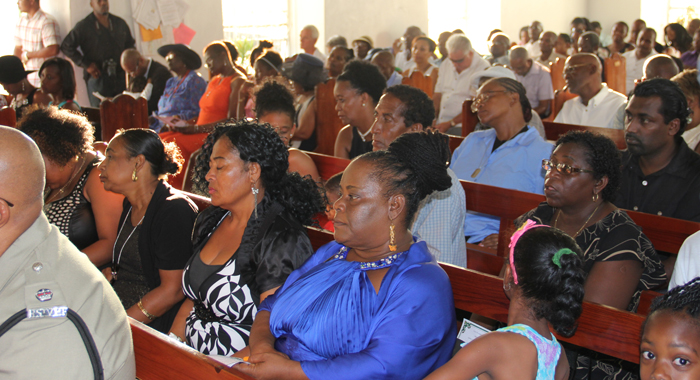 Relatives Of Persons Killed Or Missing As A Result Of The Trough System Among Other Worshippers At The Memorial Service On Wednesday. (Iwn Photo)