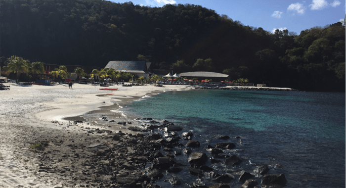 The Tiny Imported White Sand Beach At Buccament Bay Resort