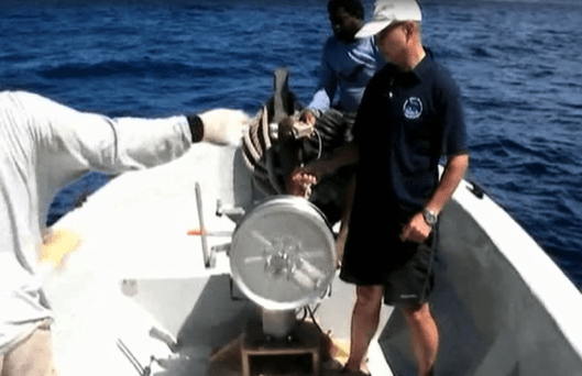 Japanese Technical Expert And Caribbean Fishers Conducting Gear Trials For Fad Study.