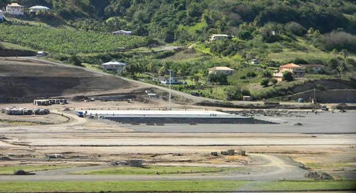 Pavement Has Begun On The General Aviation Apron At The Argyle Airport. (Photo: Friends Of Aia/Facebook)