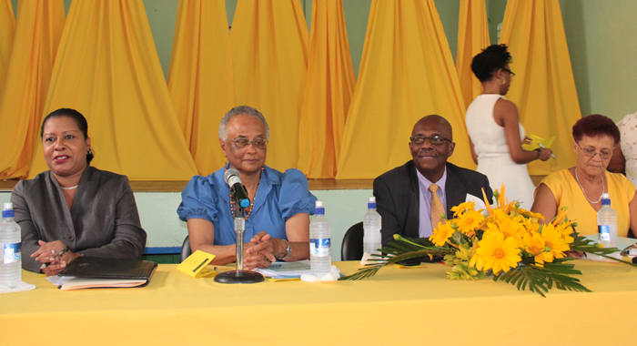 Opposition Leader Arnhim Eustace And Other Member Of The Panel At His Party'S &Quot;Conversation With Women&Quot; On Monday. (Iwn Photo)