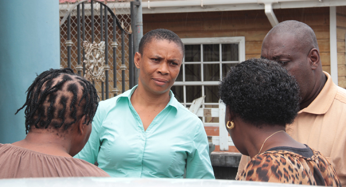 Teacher Jozette Bibby-Bowens Speak With Persons After Her Court Appearance On Tuesday. (Iwn Photo)