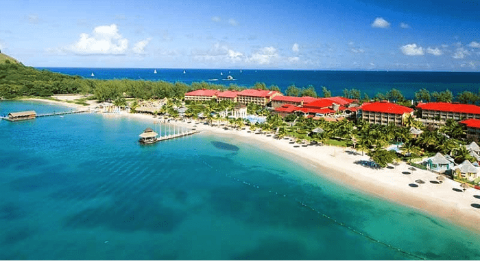 Sandals Resort In St. Lucia -- One Of Three On The Island -- Next To The Rodney Bay Area.