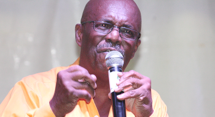 Opposition Leader Arnhim Eustace As He Addressed The Rally On Saturday. (Photo: Zavique Morris/Iwn)