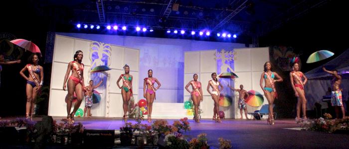 Miss Svg 2015 Contestants In Swimwear. (Iwn Photo)