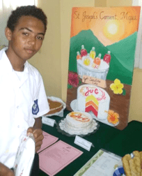 Sylvin Schaedle And His 'Ju-C Sunshine Cake'.