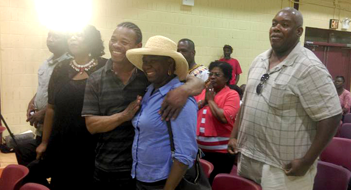 Members Of The Garifuna Nation At The Ndp'S Town Hall Meeting In New York On Sunday. (Photo: Michael Johnson/Facebook)