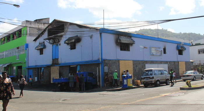 The Blaze Occured One Week After Coreas Mini Mart On Lower Bay Street, Kingstown, Was Gutted By Fire. (Iwn Photo)