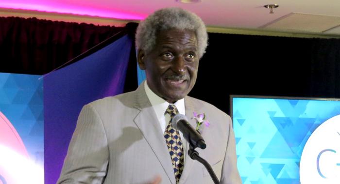 Ambassador Larry Palmer Addresses Today's Caribbean Youth Entrepreneurship Summit.
