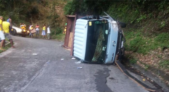 The Truck, Tq406, Fell On Baptiste'S Leg When It Overturned.