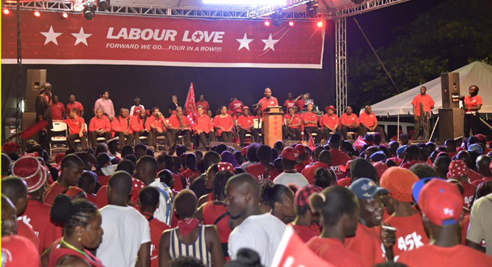 Fya Empress Made A &Quot;Surprise&Quot; Appearance At The Ulp Rally In Calliaqua. (Photo: Vote Ulp/Facebook)
