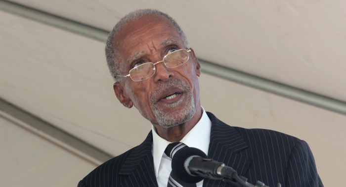 John Horne Delivers The Eulogy At Father Mcintosh'S Funeral. (Iwn Photo)