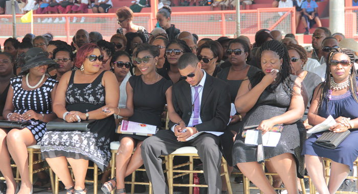Mcintosh'S Children, Second Right And Fourth Right, And Other Persons At The Funeral On Friday. (Iwn Photo)