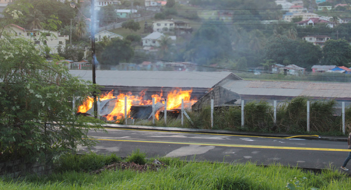 The Fire Continued To Blaze At 7 A.m. Thursday,  Five Hours After It Was First Reported. (Iwn Photo)