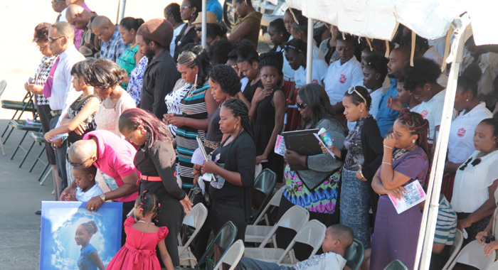 Parents And Other Relatives Of The Deceased Students And Other Persons At The Rock Gutter Memorial Service. (Iwn Photo)