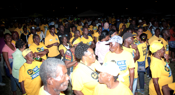 A Section Of The Crowd At The Ndp'S Rally In Layou. (Iwn Photo)