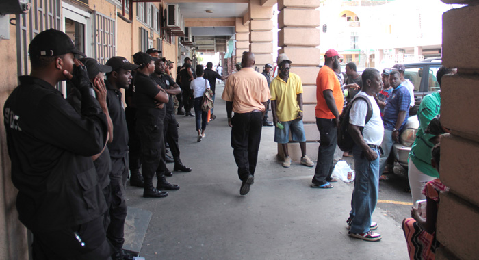There Was Increased Police Presence Outside The Electoral Office. (Iwn Photo)