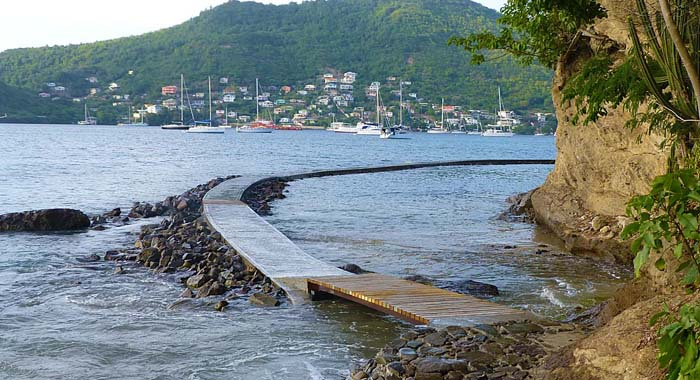 Another Section Of The Walkway In Bequia.