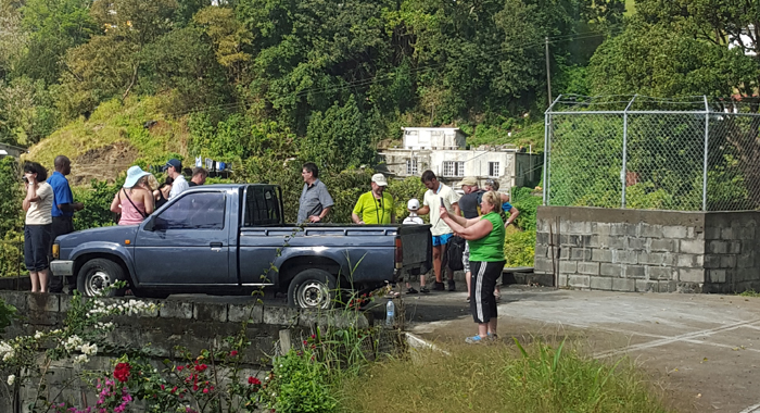 Visitors And A Guide At The &Quot;Kingstown Lookout&Quot; At Grand Gate. (Photo: Patrick Ferrari)