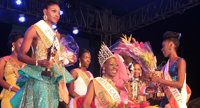 Miss Trinidad And Tobago -- Djennicia Francis Had Every Reason To Smile After Her First Visit To Her Great-Grandfather'S Birthplace. (Iwn Photo)