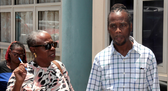 Scrubb Speaks With Opposition New Democratic Party Activist And Radio Talkshow Host, Margaret London After Securing Bail. (Iwn Photo)