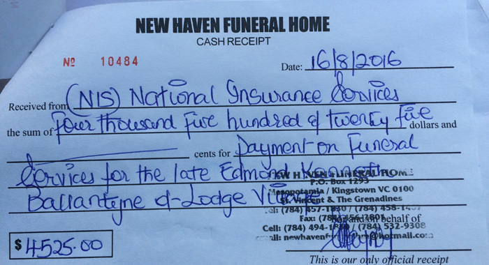 The Relevant Payments Have Been Made To New Haven Funeral Home, But Ballantyne'S Body Is At Ever-Ready Funeral Home. (Iwn Photo)