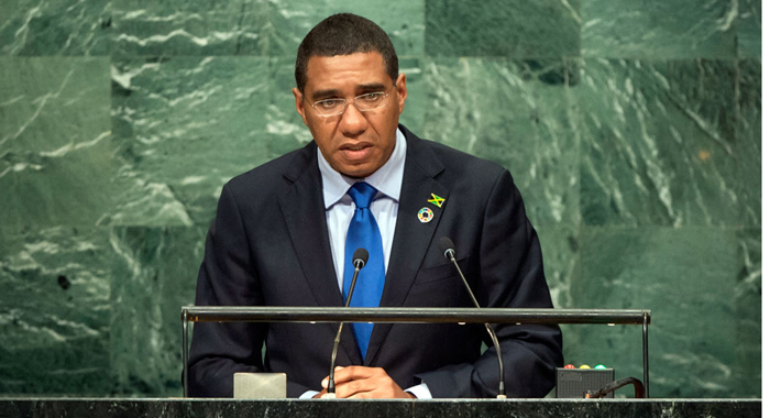 Prime Minister Of Jamaica, Andrew Holness, Addresses The General Debate Of The General Assembly's Seventy-First Session. (Un Photo/Cia Pak)