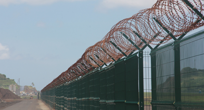 The Rusting Perimeter Fence At Argyle International Airport.