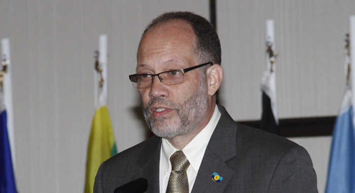 Irwin Larocque, Secretary General Of Caricom Speaking During The Opening Ceremony Of Caribbean Week Of Agriculture On Wednesday. (Iwn Photo)