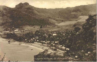 Layou Seaside Around 1930 Showed The Healthy Width Of The Beach.