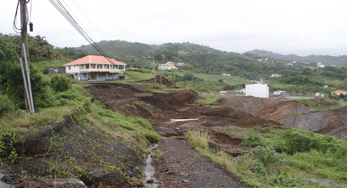 The Area Between The Road And The Argyle International Airport, Where The Earth Movement Is Taking Place. (Iwn Photo)