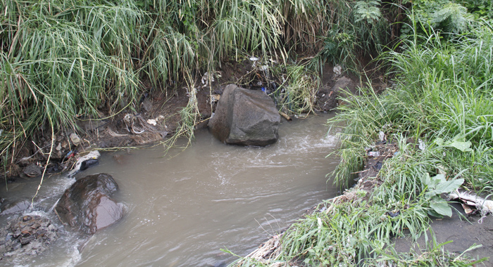 This Boulder Into The Stream Is Said To Channel Water Onto The Property Where Baptiste And Her Family Live. (Iwn Photo)
