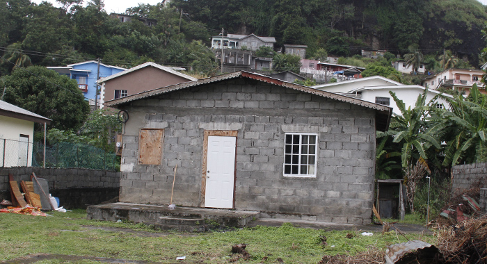 The Boys Were Bathing At The Pipe To The Right Side Of The House. (Iwn Photo)