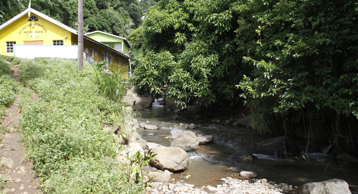 Edwards Said The Intruder Went Across This River After The Attack. (Iwn Photo)