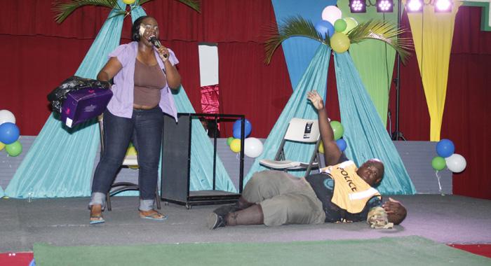 A Scene From Boyd'S Winning Talent Presentation. (Iwn Photo)